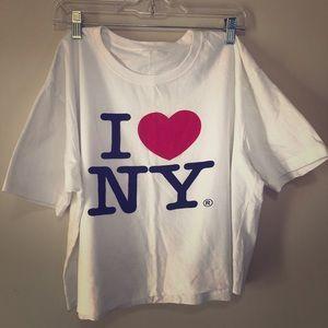 Tops - I ❤️ NY oversized cropped T-shirt